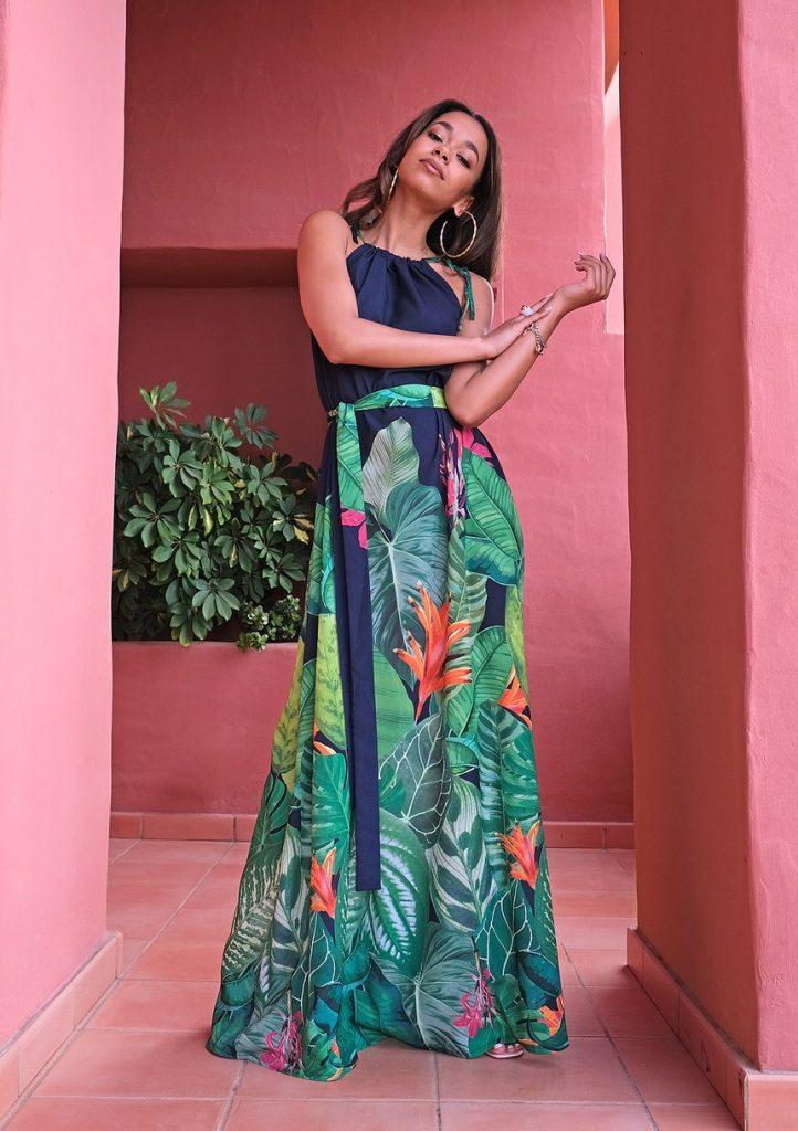 Sukienka maxi Floral Border