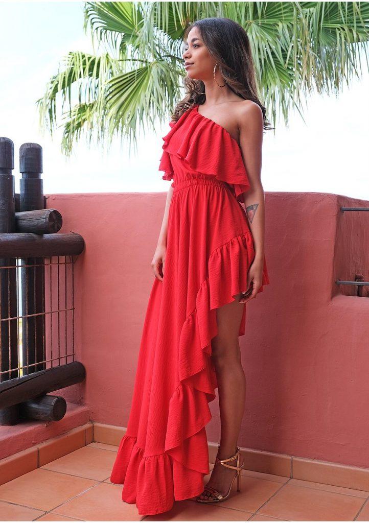 dodatki do czerwonej sukienki - kolczyki